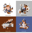 Coffee And Relax Icons Set vector image vector image