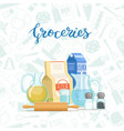 Cooking ingridients or groceries pile