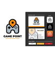 creative professional trendy game point logo vector image