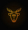 Deer head yellow concept icon or logo