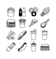Food and fastfood icons vector image