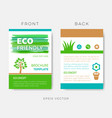 green brochure eco friendly design layout vector image