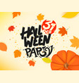 happy halloween party banner vector image vector image