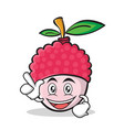 have an idea lychee cartoon character style vector image vector image