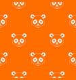 head of panda pattern seamless vector image vector image