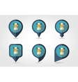 Horse mapping pins icons vector image vector image