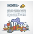 Industrial sketch background vector image vector image