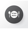 menu icon symbol premium quality isolated dishes vector image vector image