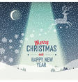 Merry Christmas Card Calm Winter Scene vector image vector image