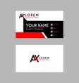 modern creative business card template with ax vector image vector image