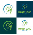 money logo and icon 2 vector image vector image