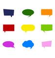 monochrome set with speech bubbles vector image vector image