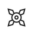 ninja shuriken icon vector image vector image