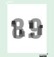 number font template modern design vector image vector image