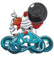 octopus bad clown vector image vector image