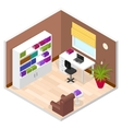 Office Room Isometric View vector image vector image