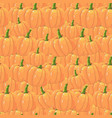 orange pumpkins seamless pattern in cartoon style vector image vector image
