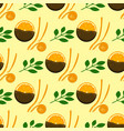 oranges seamless pattern background vector image vector image