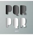 Paper Graphic Alphabet white and black PQR