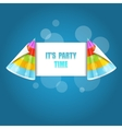 Party hat isolated on the blue vector image vector image