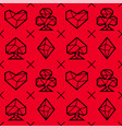 playing card suits seamless pattern vector image vector image