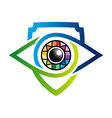 rainbow eye glossy bussines design icon vector image vector image