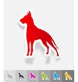 realistic design element great dane vector image