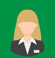 receptionist characte icon great of character vector image