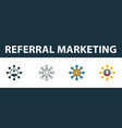 referral marketing icon set four elements in vector image vector image