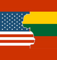 relationships between usa and lithuania vector image vector image