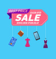 retail sale poster vector image vector image