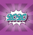 retro pop art new year 2020 banner vector image vector image