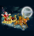 santa and sleigh vector image vector image