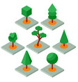 set of isometric trees vector image