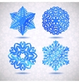 Set of watercolor snowflakes Merry vector image vector image