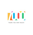 seven thousand subscribers baner colorful logo vector image vector image