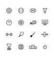 sport line icon vector image vector image