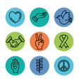 symbols peace for international peace day icons vector image vector image