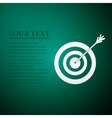 Target with dart flat icon on green background vector image