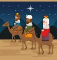 three magic kings of orient cartoons vector image vector image
