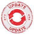 Update grunge rubber stamp vector image vector image