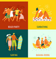 vacation 2x2 design concept vector image vector image