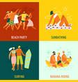 vacation 2x2 design concept vector image vector image