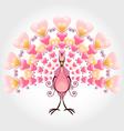 valentine love bird peacock vector image