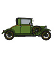 Vintage green car vector image vector image