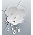 water drops paper modern design vector image vector image