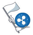 with flag ripple coin character cartoon vector image