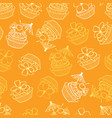 yellow tropical birthday party cupcakes vector image