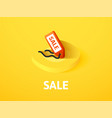 sale isometric icon isolated on color background vector image