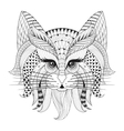 Zentangle Hand drawn Cat face for adult antistress vector image